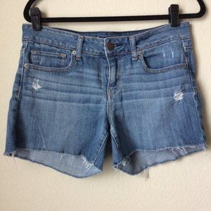 American Eagle AEO | Stretch Blue Jean Shorts 10